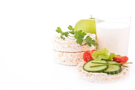 rice cake and milk photo