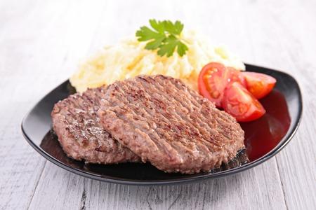 beefsteak: beefsteak and puree Stock Photo