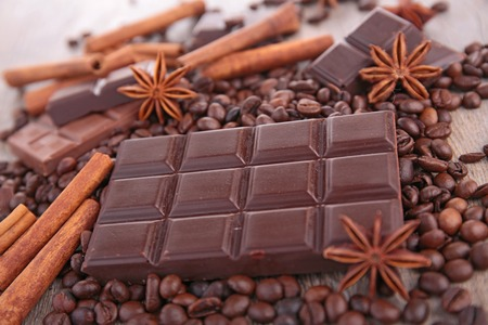 chocolate bar and ingredient Stock Photo - 27038519