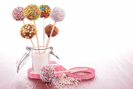 colorful cake pops photo