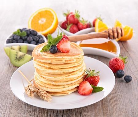pancakes and fruits  photo