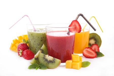 jugo de frutas: jugo de fruta en blanco