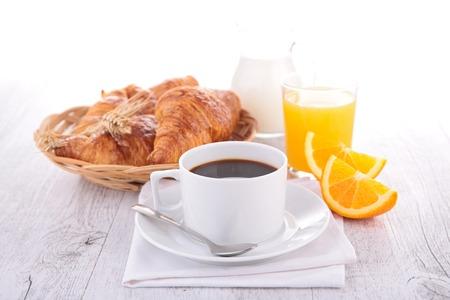 croissant: coffee, orange juice and croissant