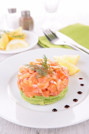 tartar: salmon tartar Stock Photo