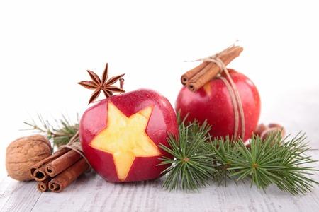 apple and cinnamon: christmas apple Stock Photo