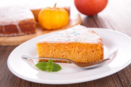 pumpkin pie: pumpkin pie Stock Photo