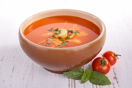gazpacho: tomato soup, gazpacho Stock Photo