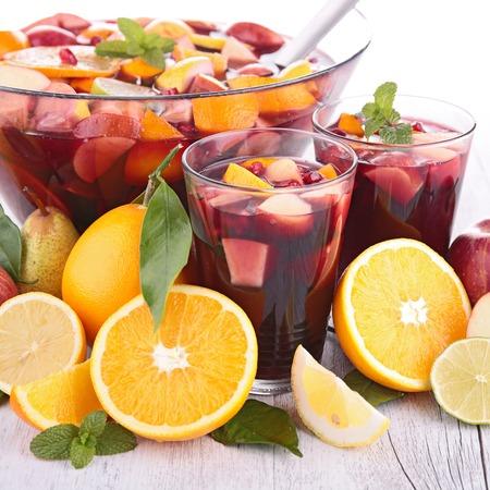 jugo de frutas: zumo de fruta, c�ctel Foto de archivo