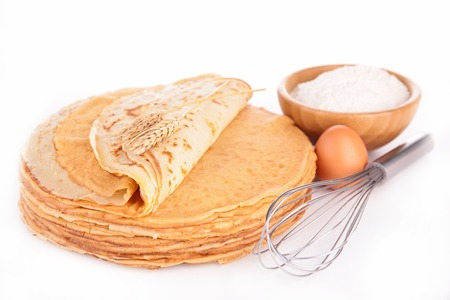 cooking ingredients: crepe isolated Stock Photo