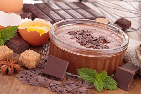 chocolade mousse: chocolademousse Stockfoto