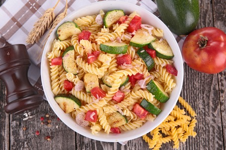 zucchini vegetable: pasta cooked with vegetables