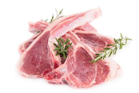 lamb chop: raw lamb Stock Photo