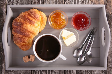 trays: breakfast Stock Photo