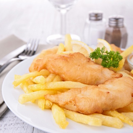 fish dinner: fish and chips