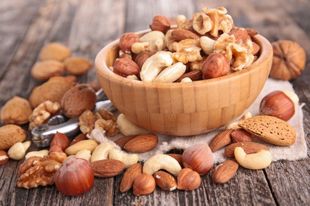 cashew nuts: mix nuts Stock Photo