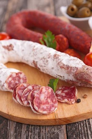 chorizo: salami and chorizo
