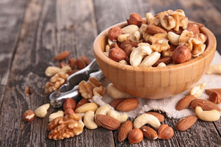 cashew nuts: assortment of nuts