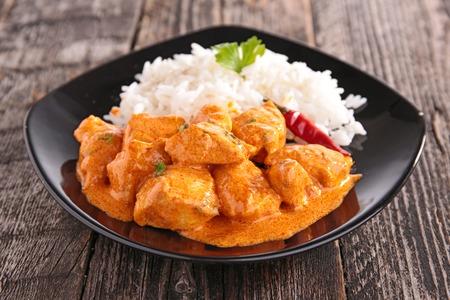 curry: pollo al curry Foto de archivo
