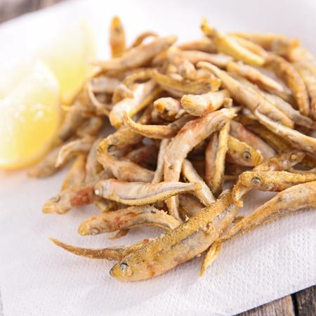 fish fry: fried fish Stock Photo