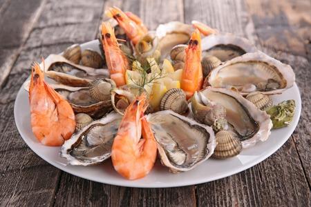 zeevruchten schotel Stockfoto
