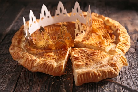 galette with crown Stock Photo