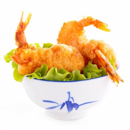fritter: fried shrimp Stock Photo