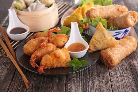 buffet dinner: asia food Stock Photo