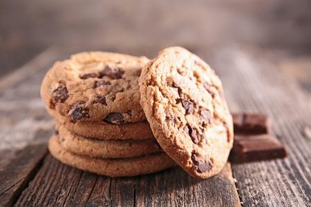 galleta de chocolate: chocolate con galletas Foto de archivo