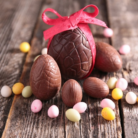 easter and egg: chocolate easter egg