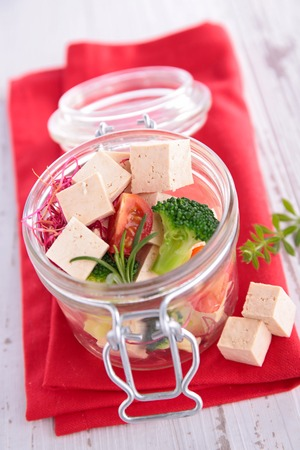 alimentary: tofu Stock Photo
