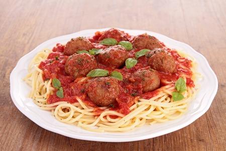 spaghetti en gehaktbal Stockfoto