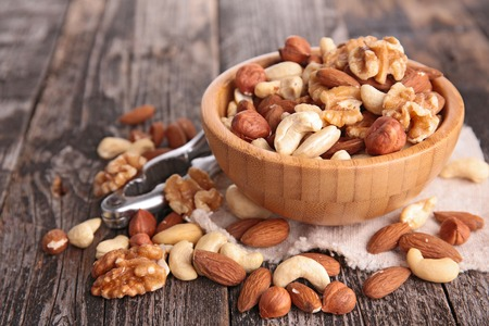 mixed nuts: assortment of nuts