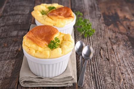 cheese: cheese souffle Stock Photo