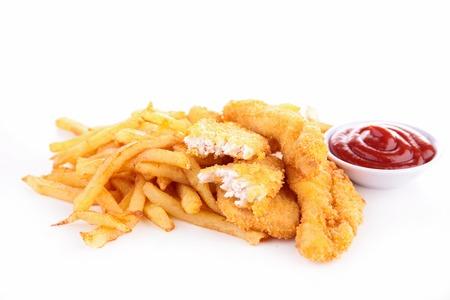 fish and chips: comida rápida Foto de archivo