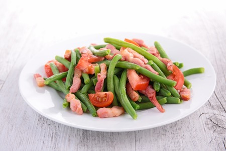 green bean: green bean and bacon