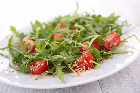 arugula salad Stock Photo