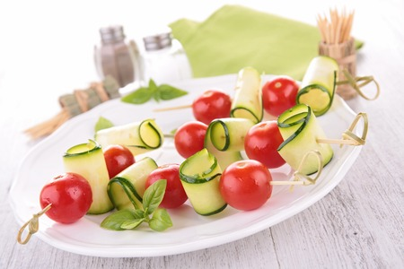 heathy diet: tomato salad Stock Photo