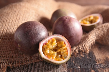 epicure: passion fruit Stock Photo