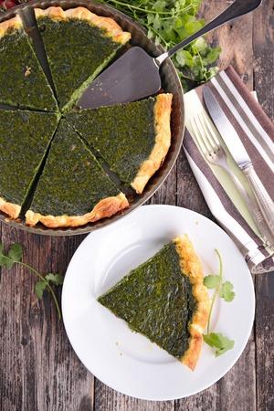 tart: spinach tart