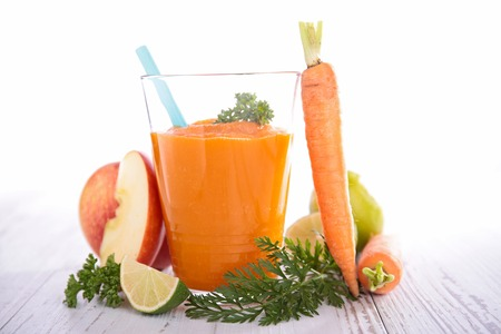 juice fresh vegetables: carrot juice