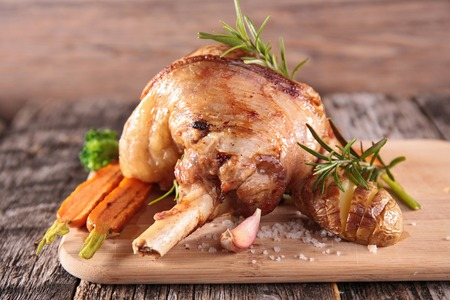 lamb chop: cooked lamb chop Stock Photo