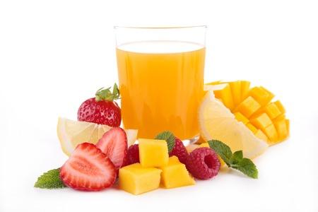 coctel de frutas: jugo de fruta