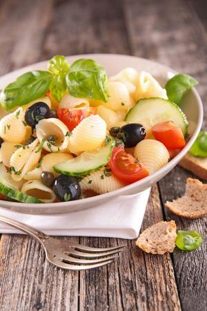 pasta salad: pasta salad Stock Photo