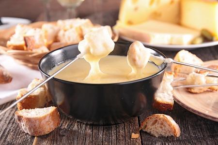 cheese fondue Foto de archivo
