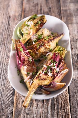 artichoke: fried artichoke Stock Photo