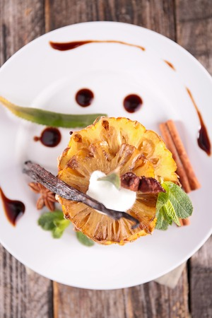 epicure: pineapple dessert and spices