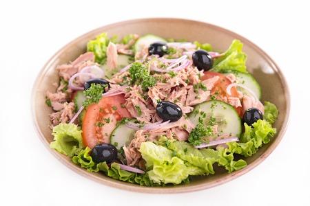 heathy diet: fresh salad with tuna