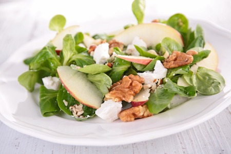 epicure: salad with apple,walnut and cheese