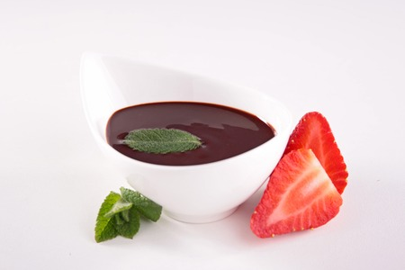 epicure: chocolate sauce and strawberry