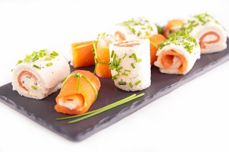 canapes: assortment of canapes Stock Photo